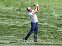 Potomac, MD - June 30, 2018:  Rickie Fowler (USA) hits the ball during Round 3 at the Quicken Loans National Tournament at TPC Potomac in Potomac, MD, June 30, 2018.  (Photo by Elliott Brown/Media Images International)