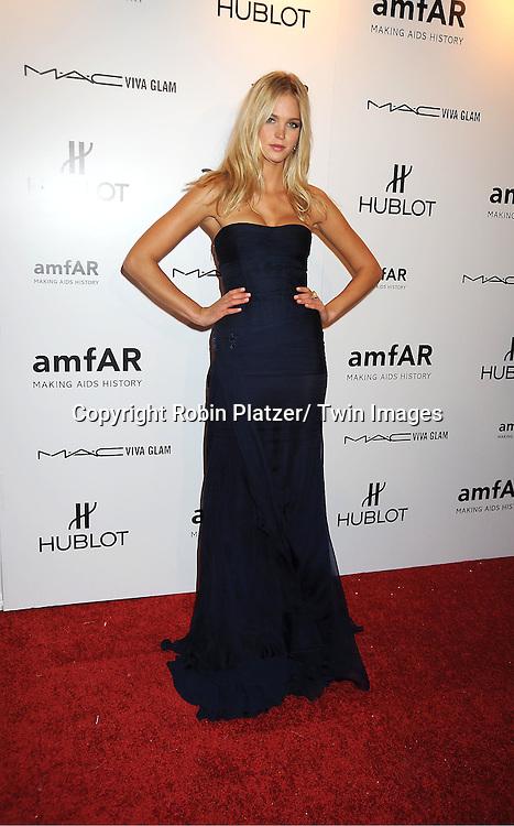 Erin Hearterhton arrives at the amfAR New York Gala to kick off Fashion Week on February 8, 2012 at Cipriani Wall Street in New York City.