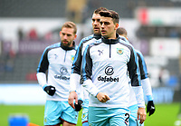 Burnley's Matthew Lowton during the pre-match warm-up <br /> <br /> Photographer Ashley Crowden/CameraSport<br /> <br /> The Premier League - Swansea City v Burnley - Saturday 10th February 2018 - Liberty Stadium - Swansea<br /> <br /> World Copyright &copy; 2018 CameraSport. All rights reserved. 43 Linden Ave. Countesthorpe. Leicester. England. LE8 5PG - Tel: +44 (0) 116 277 4147 - admin@camerasport.com - www.camerasport.com
