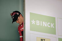 Stage winner Jasper Stuyven (BEL/Trek Segafredo) waiting to go on the podium. <br /> <br /> Binckbank Tour 2017 (UCI World Tour)<br /> Stage 7: Essen (BE) > Geraardsbergen (BE) 191km
