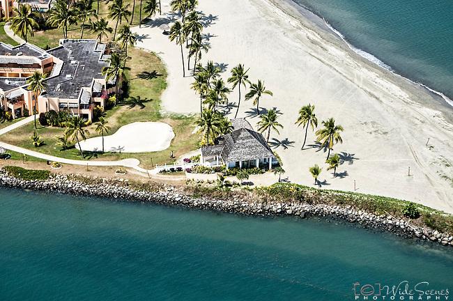 Aerial of the Sheraton Resort Chapel on Denarau Island, Fiji