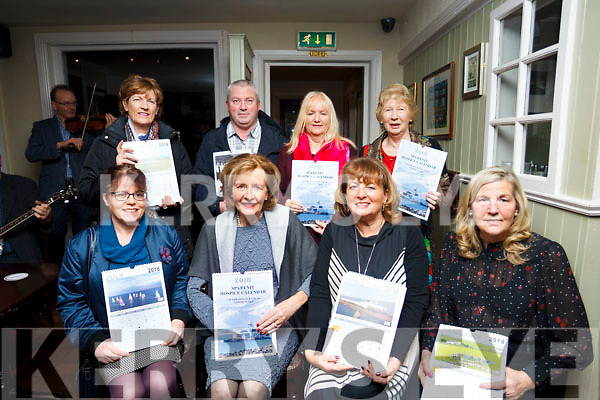 The Spa Fenit Hospice fundraising committee who launched the 2018 Calendar in the Tankard Bar, Fenit on Friday night last. Seated L to R: Christene Gallagher (Tres), Marie McSwiney (Chairperson), Maired Moriarty (PRO) & Nuala Finnegan (Sec). Back row: Margaret O'Sé, James McCarthy (Photographer), Norma Lee & Mary Kelly.