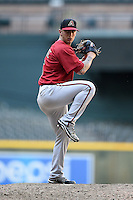 Arizona Diamondbacks pitcher Will Locante (16) during an Instructional League game against the Oakland Athletics on October 10, 2014 at Chase Field in Phoenix, Arizona.  (Mike Janes/Four Seam Images)