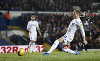 Leeds United's Ezgjan Alioski is caught off-side during the first half<br /> <br /> Photographer Rich Linley/CameraSport<br /> <br /> The EFL Sky Bet Championship - Leeds United v Reading - Tuesday 27th November 2018 - Elland Road - Leeds<br /> <br /> World Copyright © 2018 CameraSport. All rights reserved. 43 Linden Ave. Countesthorpe. Leicester. England. LE8 5PG - Tel: +44 (0) 116 277 4147 - admin@camerasport.com - www.camerasport.com