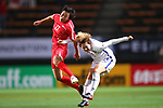 (L-R) <br /> Kim Phyong Hwa (PRK), <br /> Lee Sodam (KOR), <br /> DECEMBER 11, 2017 - Football / Soccer : <br /> EAFF E-1 Football Championship 2017 Women's Final match <br /> between North Korea 1-0 South Korea <br /> at Fukuda Denshi Arena in Chiba, Japan. <br /> (Photo by Naoki Nishimura/AFLO)