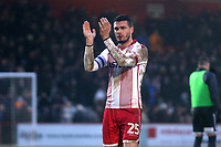 Ron Henry of Stevenage thanks the fans during Stevenage vs Luton Town, Sky Bet EFL League 2 Football at the Lamex Stadium on 10th February 2018