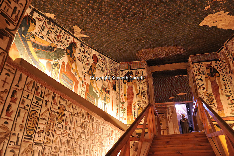 Zahi Hawass Secret Egypt Travel Guide; Egypt; archaeology; Luxor; West Bank; Valley of the Queens; Tomb of Nefertari,New Kingdom; wife of Ramses II; Ramesses the Great, goddess, Hathor, Selkis, winged Ma'at