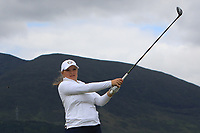 Courtney Dow (USA) on the 2nd tee during Round 1 of the Women's Amateur Championship at Royal County Down Golf Club in Newcastle Co. Down on Tuesday 11th June 2019.<br /> Picture:  Thos Caffrey / www.golffile.ie<br /> <br /> All photos usage must carry mandatory copyright credit (© Golffile | Thos Caffrey)