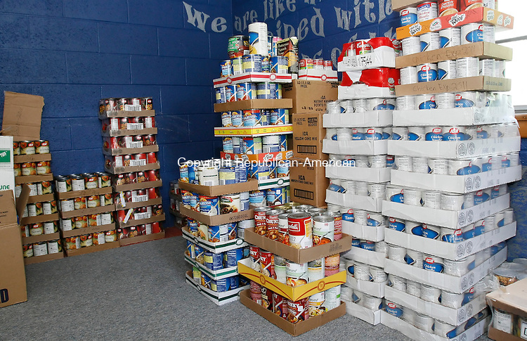 WATERTOWN, CT 06/19/09- 061909BZ02- The Watertown Food Bank will lose it's home when the Connecticut Episcopal Diocese closes Christ Church July 31, unless town officials can find another location.<br /> Jamison C. Bazinet Republican-American