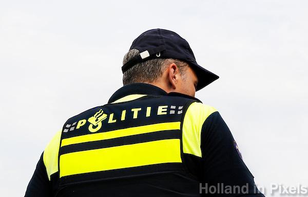 Nederland Hardenberg 2015 08 15. Veiligheidsdag in Hardenberg. Politieman in uniform