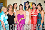 Keren Fenix, Edel Fitzgerald, Niamh Curran, Marie Flaherty, Linda O'Brien, Danielle Moriarty and Katie Mitchell at the Kerry General Hospital Nurses Ball at the Ballyroe Hotel on Thursday night were