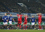 Dejection for Liverpool as they miss a chance to score - Barclays Premier League - Everton vs Liverpool - Goodison Park Stadium  - Liverpool - England - 7th February 2015 - Picture Simon Bellis/Sportimage