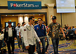 Team Pokerstars Pro's enter the tournament area.