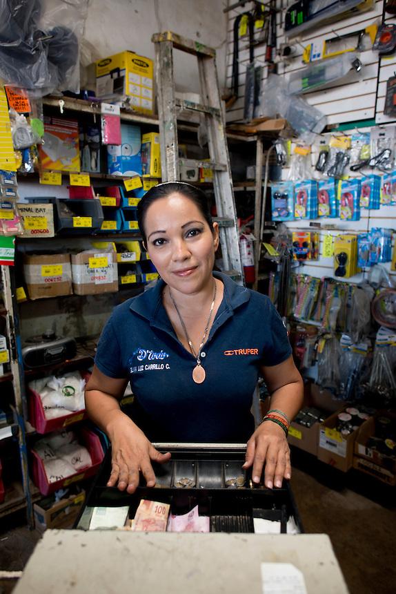 Elvia Luz Carrillo Cardenas. Hardware store owners in Culiacan, Sinaloa,  Mexico