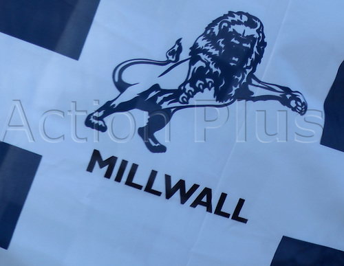 15.02.2014 London, England. Millwall Flag  during the Championship game between Millwall and Bolton Wanderers from The New Den.
