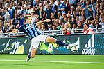 Stockholm 2015-08-24 Fotboll Allsvenskan Djurg&aring;rdens IF - Hammarby IF :  <br /> Djurg&aring;rdens Jesper Arvidsson i aktion under matchen mellan Djurg&aring;rdens IF och Hammarby IF <br /> (Foto: Kenta J&ouml;nsson) Nyckelord:  Fotboll Allsvenskan Djurg&aring;rden DIF Tele2 Arena Hammarby HIF Bajen portr&auml;tt portrait