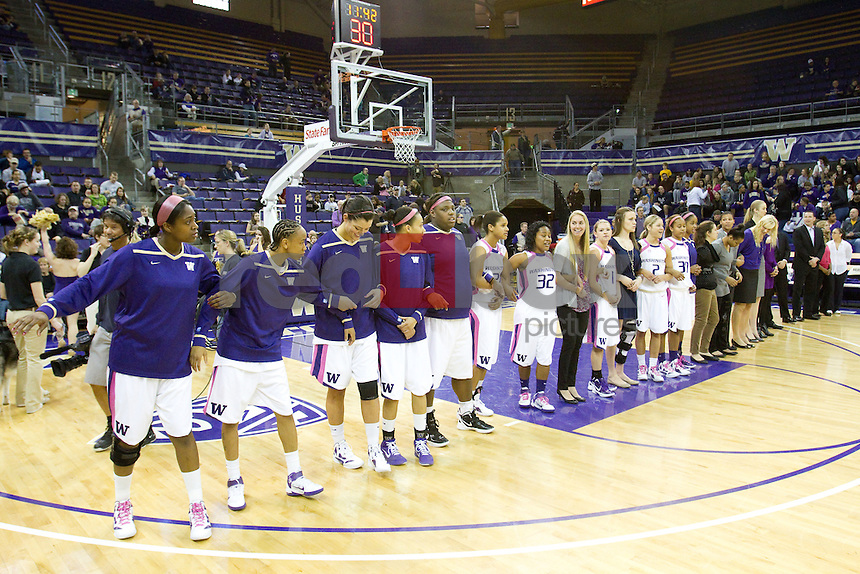 The University of Washington Huskies defeated Washington State University in women's basketball 60-56 at Alaska Airlines Arena on Sunday February 26, 2012 on the University of Washington campus in Seattle, Wash.  (Photo by Scott Eklund/Red Box Pictures) Mollie Williams.