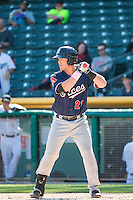 Blake Lalli (21) of the Reno Aces at bat against the Salt Lake Bees in Pacific Coast League action at Smith's Ballpark on May 10, 2015 in Salt Lake City, Utah. Reno defeated Salt Lake 11-2 in Game Two of the double-header.  (Stephen Smith/Four Seam Images)