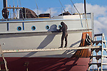Port Townsend, Shipwrights, passenger yacht, Westward, Port of Port Townsend, boatyard,  Jefferson County, Olympic Peninsula, Washington State, Pacific Northwest, USA,