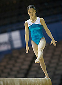 21st March 2018, Arena Birmingham, Birmingham, England; Gymnastics World Cup, day one, womens competition; Hitomi Hatakeda (JPN) on the Balance Beam during  Training