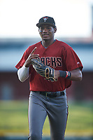 AZL Dbacks left fielder Neyfy Castillo (17) jogs off the field between innings of an Arizona League game against the AZL Cubs 2 on June 25, 2019 at Sloan Park in Mesa, Arizona. AZL Cubs 2 defeated the AZL Dbacks 4-0. (Zachary Lucy/Four Seam Images)