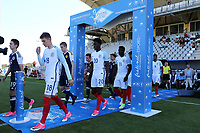 David Brooks proudly walks out onto the pitch to play for England during England Under-18 vs Scotland Under-20, Toulon Tournament Semi-Final Football at Stade Parsemain on 8th June 2017