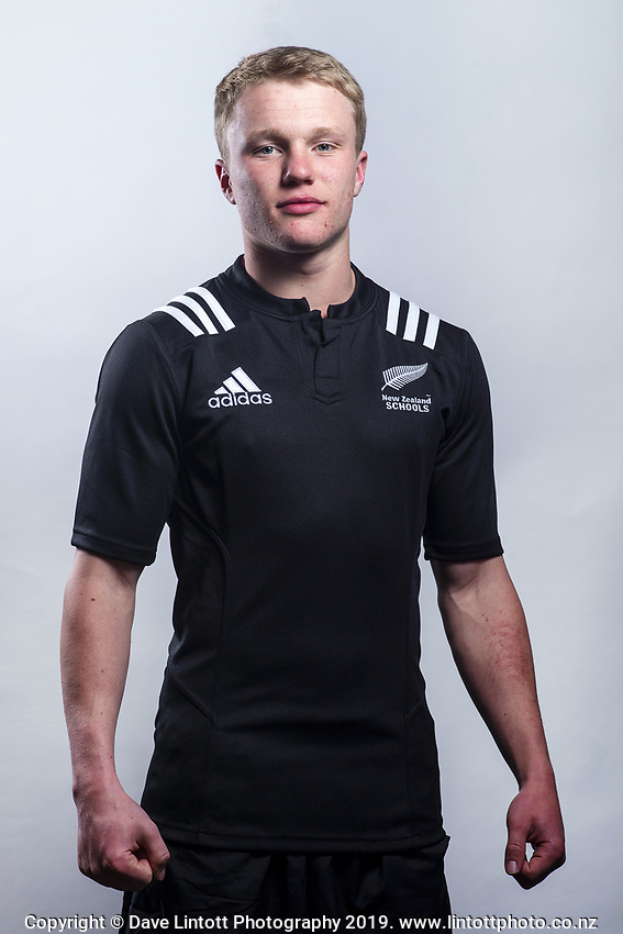 Blair Murray (New Plymouth Boys' High School). 2019 New Zealand Schools rugby union headshots at the Sport & Rugby Institute in Palmerston North, New Zealand on Wednesday, 25 September 2019. Photo: Dave Lintott / lintottphoto.co.nz