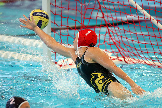 12th Fina World Swimming Championships Melbourne, 2007, Waterpolo gold Medal game between Australia and USA 31st March  USA won the gold , Australias goal keeper makes a save