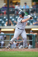 Grand Junction Rockies Colin Simpson (44) at bat during a Pioneer League game against the Billings Mustangs at Dehler Park on August 14, 2019 in Billings, Montana. Grand Junction defeated Billings 8-5. (Zachary Lucy/Four Seam Images)