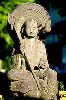 Stone statue of Budda at Asakusa Kannon in Tokyo