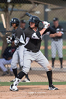 Chicago White Sox catcher Michael Hickman (58) during a Minor League Spring Training game against the Chicago White Sox at Camelback Ranch on March 16, 2018 in Glendale, Arizona. (Zachary Lucy/Four Seam Images)