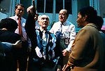 Revd George Canty, faith healer performing acts of healing at Kensington Temple at Pentecostal church in the Notting Hill area of London 1990s. He has just 'cured' this blind man.