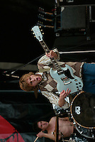 Hometown Hero performing at the K-Rock Dysfunctional Family Picnic at Jones Beach Theater in New York on June 8, 2002. Photo by Scott Gries/PictureGroup