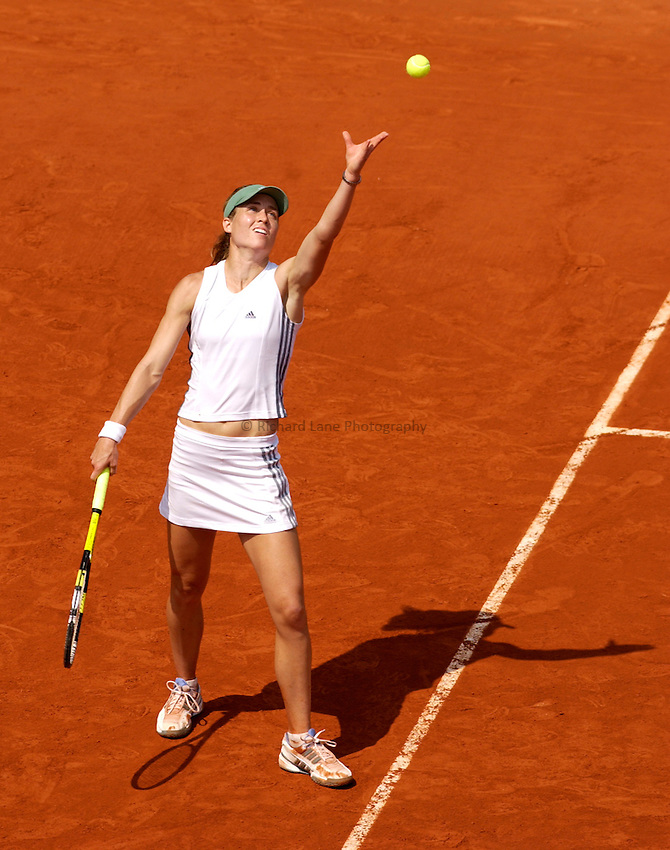 Photo. Jed Wee..French Open Tennis Championships, Roland Garros, Paris, France. 30/05/2003..Meghann Shaughnessy.