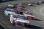 #11: Denny Hamlin, Joe Gibbs Racing, Toyota Camry FedEx Freight and #43: Darrell Wallace Jr., Richard Petty Motorsports, Chevrolet Camaro Victory Junction