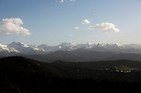 A mountain range is pictured from Dead Indian Summit Overlook in Shoshone National Forest in Wyoming on Wednesday, May 24, 2017. (Photo by James Brosher)