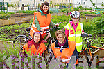 Pictured at the Nature Cycle during Kerry Bicycle Festival at the Moyderwell Allotments, Tralee were front Niamh Ni Dhuill and Cathy Eastman from Grotbrack Organic Farm who gave a tour of the Allotment at back were Gail Groves and Rosin Brosnan on Sunday .
