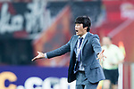 Suwon Samsung Head Coach Seo Jung Won gestures during the AFC Champions League 2017 Group G match between Guangzhou Evergrande FC (CHN) vs Suwon Samsung Bluewings (KOR) at the Tianhe Stadium on 09 May 2017 in Guangzhou, China. Photo by Yu Chun Christopher Wong / Power Sport Images