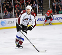 DANIEL WINNIK,  of the Colorado Avalanche in action  during the Avalanche game against the Chicago Blackhawks at the United Center in Chicago, IL.  The Colorado Avalanche beat the Chicago Blackhawks 4-3 in Chicago, Illinois on December 15, 2010....