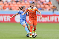 Houston, TX - The Houston Dash defeated the Chicago Red Stars 2-0 on Saturday April 15, 2017: Vanessa DiBernardo, Andressa Cavalari Machry during a regular season National Women's Soccer League (NWSL) match at BBVA Compass Stadium.