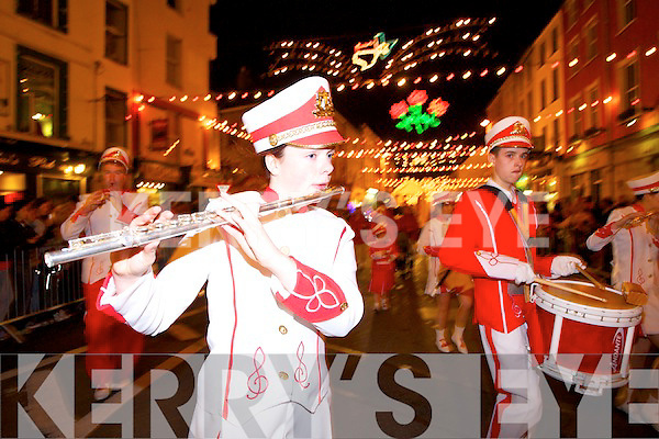 The Rose of tralee festival of Kerry rose parade in Tralee on Saturday night.