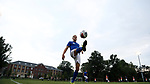 ELON, NC - SEPTEMBER 02: Presbyterian's Nemanja Zivanovic (SRB). The Elon University Phoenix hosted the Presbyterian College Blue Hose on September 2, 2017 at Rudd Field in Elon, NC in a Division I college soccer game. Elon won the game 2-0.