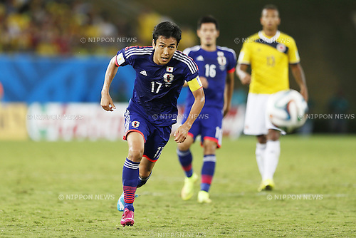 Makoto Hasebe (JPN), JUNE 24, 2014 - Football / Soccer : FIFA World Cup Brazil 2014 Group C match between Japan 1-4 Colombia at the Arena Pantanal in Cuiaba, Brazil. (Photo by AFLO)