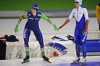 SCHAATSEN: HEERENVEEN: IJsstadion Thialf, 12-02-15, World Single Distances Speed Skating Championships, Marije Joling (NED), Olga Graf (RUS), ©foto Martin de Jong