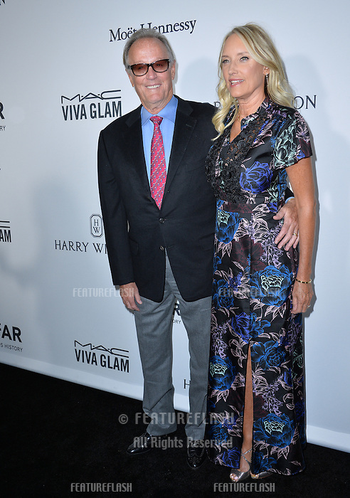 LOS ANGELES, CA. October 27, 2016: Peter Fonda &amp; Margaret DeVogelaere at the 2016 amfAR Inspiration Gala at Milk Studios, Los Angeles.<br /> Picture: Paul Smith/Featureflash/SilverHub 0208 004 5359/ 07711 972644 Editors@silverhubmedia.com