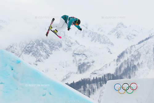 Anna Segal (AUS) competes in the women's slopestyle event at the Sochi 2014 Winter Olympic Games on February 11th, 2014. Segal finished 4th. (Photo Yohei Osada/AFLO)