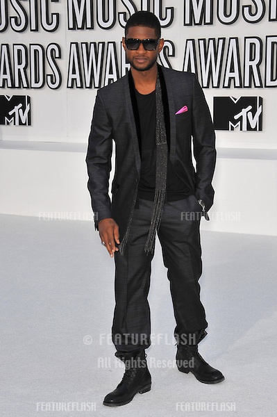 Usher at the 2010 MTV Video Music Awards at the Nokia Theatre L.A. Live in downtown Los Angeles..September 12, 2010  Los Angeles, CA.Picture: Paul Smith / Featureflash