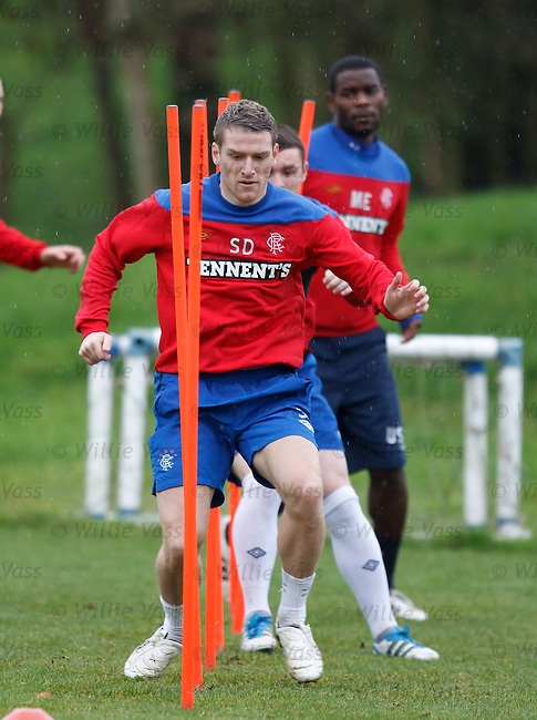 Steven Davis getting in some pole dancing practice