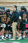 San Diego, CA 05/25/13 - Torrey Pines Assistant Coach Nick Gradinger on the sidelines prior to the championship game against La Costa Canyon.