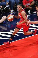 Washington, DC - Sept 17, 2019: Washington Mystics guard Natasha Cloud (9) in action during WNBA Playoff semi final game between Las Vegas Aces and Washington Mystics at the Entertainment & Sports Arena in Washington, DC. The Mystics hold on to beat the Aces 97-95. (Photo by Phil Peters/Media Images International)